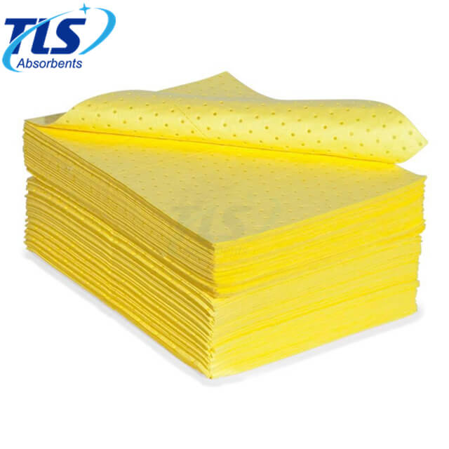 4mm Thickness Marine Yellow Chemical Spill Absorbent Pads