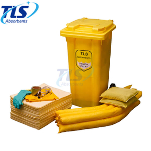 660L Chemical Spill Control Kits Mobile Type Yellow Color