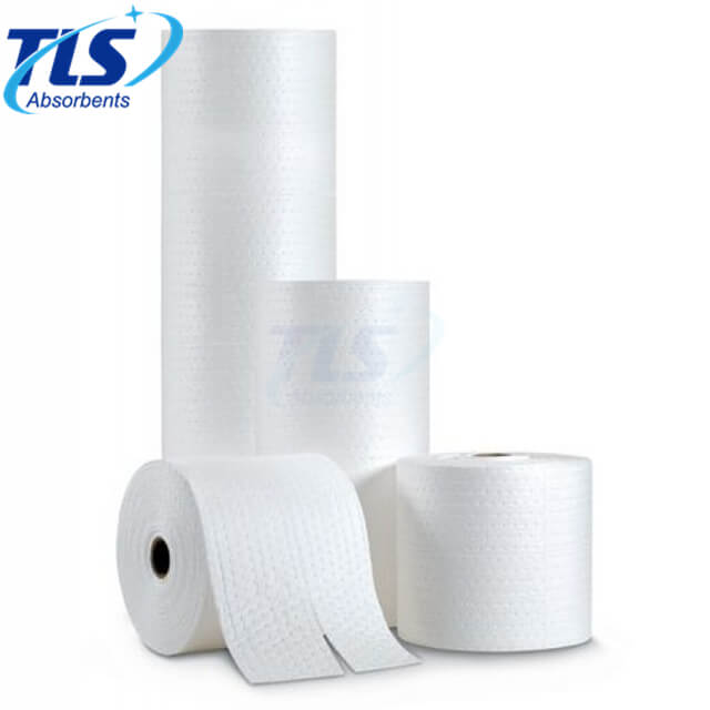 Oil Spill Absorbent Rolls For Fuel and Oil Spills 100% Poly