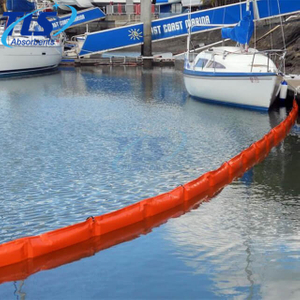Yellow PVC Oil Fence Boom Floating Barriers For Calm Water