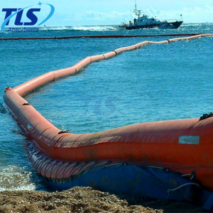 Rubber Floating Water-filled Tidal Boom For Sealing Land Water