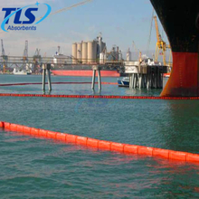 PVC Permanent Orange Fence Boom Beach For Oil Containment On Water