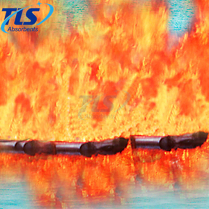 Orange Fire Resistant Oil Spill Control Boom For River